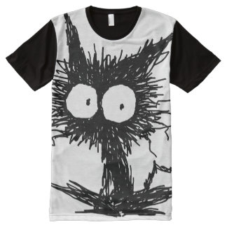 Black Unkempt Kitten GabiGabi All-Over-Print T-Shirt