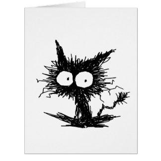 Black Unkempt Kitten GabiGabi Card