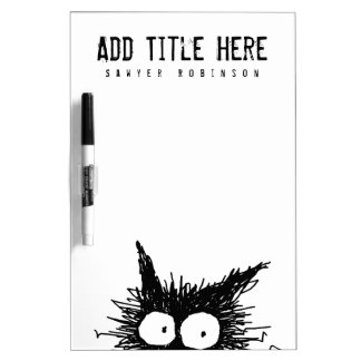 Black Unkempt Kitten GabiGabi Dry Erase Board