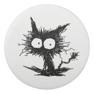 Black Unkempt Kitten GabiGabi Eraser
