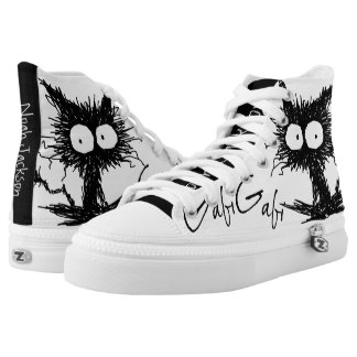 Black Unkempt Kitten GabiGabi High Tops