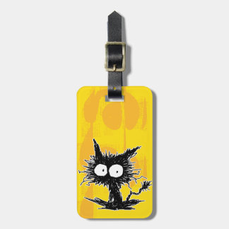 Black Unkempt Kitten GabiGabi Luggage Tag