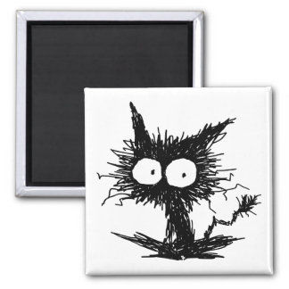 Black Unkempt Kitten GabiGabi Magnet
