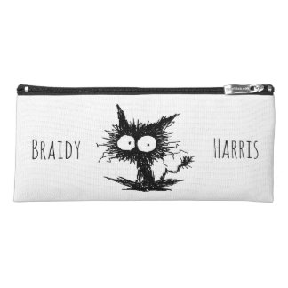 Black Unkempt Kitten GabiGabi Pencil Case
