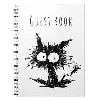 Black Unkempt Kitten GabiGabi Spiral Notebook