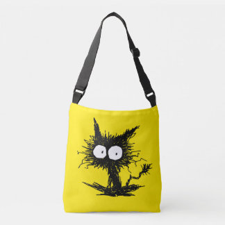 Black Unkempt Kitten GabiGabi Yellow Crossbody Bag
