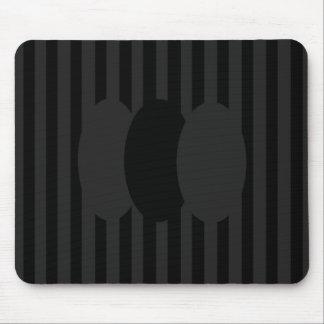 Black Velvet Ovals Mouse Pad