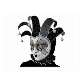 Black Venetian Carnivale Mask in Profile Postcard