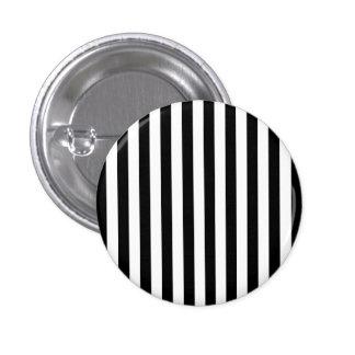 Black Vertical Stripes 1 Inch Round Button