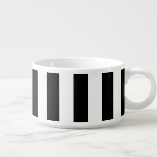 Black Vertical Stripes Chili Bowl