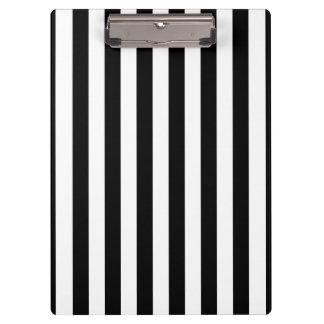 Black Vertical Stripes Clipboard