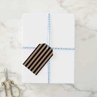 Black Vertical Stripes Gift Tags
