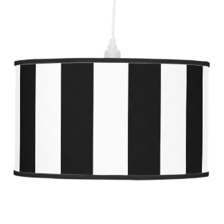 Black Vertical Stripes Hanging Lamp