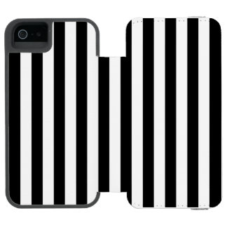 Black Vertical Stripes Incipio Watson™ iPhone 5 Wallet Case