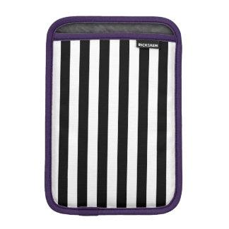Black Vertical Stripes iPad Mini Sleeve