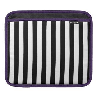 Black Vertical Stripes iPad Sleeve