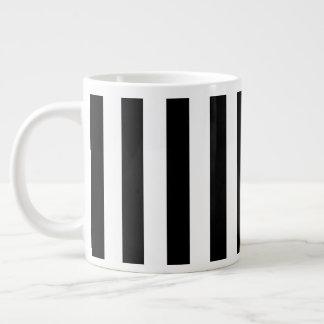 Black Vertical Stripes Large Coffee Mug