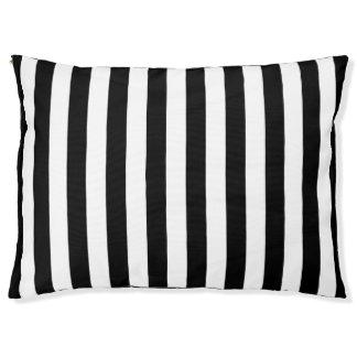 Black Vertical Stripes Large Dog Bed