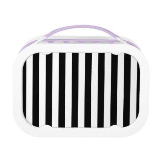 Black Vertical Stripes Lunchbox