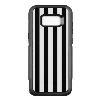 Black Vertical Stripes OtterBox Commuter Samsung Galaxy S8+ Case