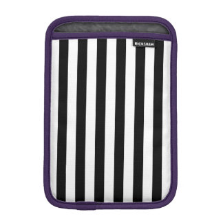 Black Vertical Stripes Sleeve For iPad Mini