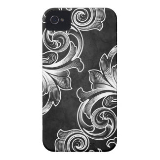 Black Victorian Scroll iPhone 4/4S Case
