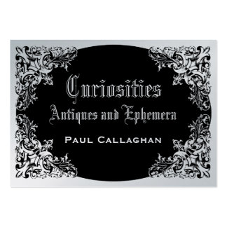 Black Victoriana Pack Of Chubby Business Cards