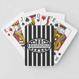 Black Vintage Carnival Family Playing Cards