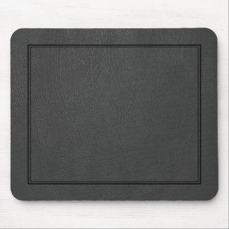Black Vintage Leather Pattern Print Mouse Pad