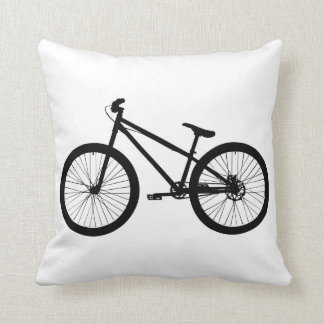 Black Vintage Mountain Bike Pillow