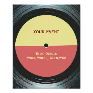 Black Vinyl Music Record Label Event Flyer