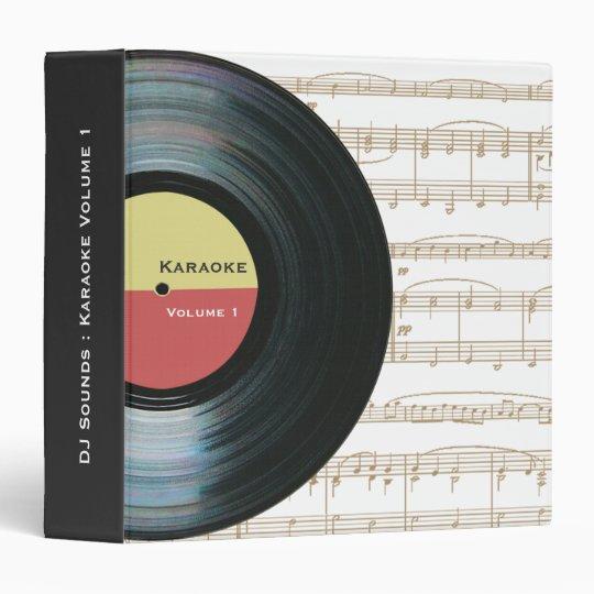 Black Vinyl Music Record Label Karaoke Folder Binder
