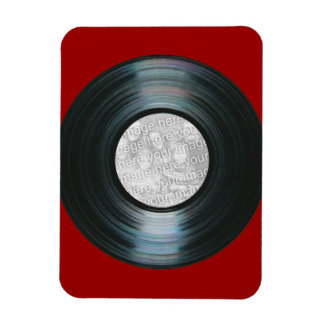 Black Vinyl Record Effect Custom Photo Magnet