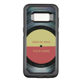 Black Vinyl Record Effect OtterBox Commuter Samsung Galaxy S8 Case