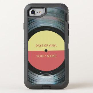 Black Vinyl Record Effect OtterBox Defender iPhone 8/7 Case