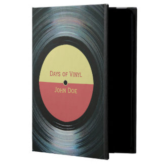 Black Vinyl Record With Label iPad Air Case