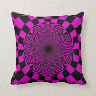 Black Violet Retro Painting Abstract Art Deco Throw Pillow