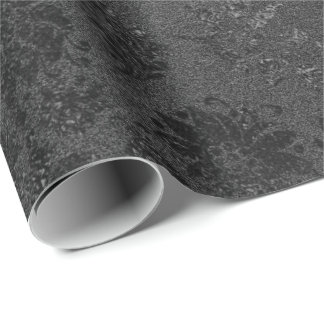 Black VIP Floral Lace Metallic Mulin Rouge Wrapping Paper