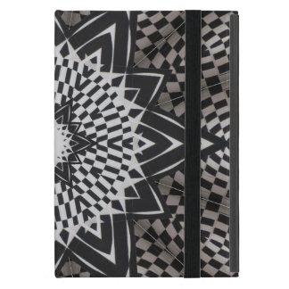 black vs white Mandala iPad Mini Cases