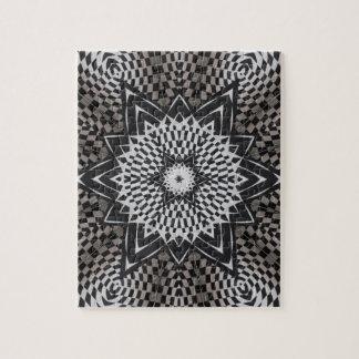 black vs white Mandala Jigsaw Puzzle
