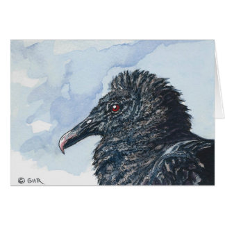 Black Vulture Note Card Original Art