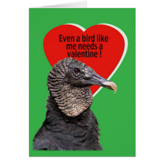 Black Vulture Valentine Card