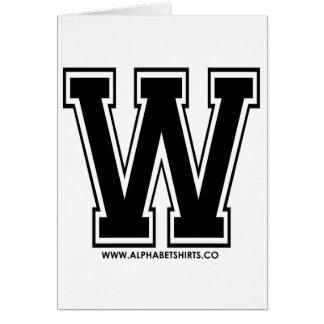 Black W Card