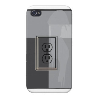 Black wall socket phone thingy! iPhone 4 cases
