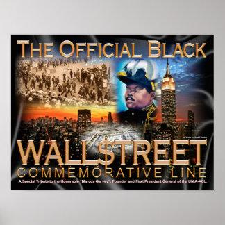 """BLACK WALL STREET 24"""" x 18.5"""" POSTER ART"""