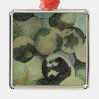 Black Walnuts Silver-Colored Square Ornament
