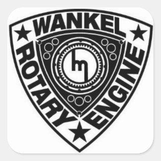 Black Wankel Rotary Engine Stickers