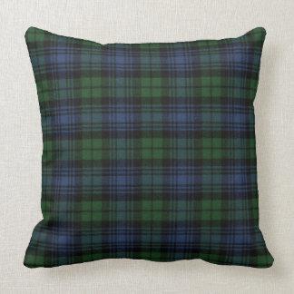 Black Watch Ancient Original Scottish Tartan Throw Pillow