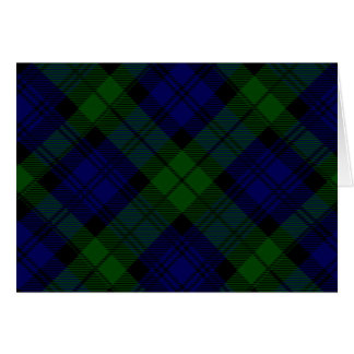 Black Watch clan tartan blue green plaid Card