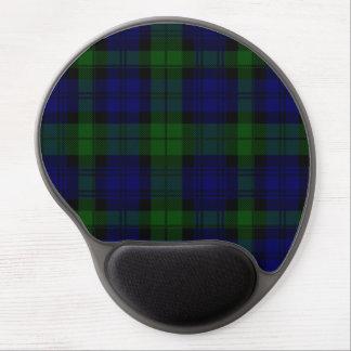 Black Watch clan tartan blue green plaid Gel Mouse Pad